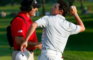 AKRON, OH - AUGUST 03:  Rory McIlroy of Northern Ireland throws his ball into the crowd after winning the World Golf Championships-Bridgestone Invitational during the final round at Firestone Country Club South Course on August 3, 2014 in Akron, Ohio.  (Photo by Sam Greenwood/Getty Images)