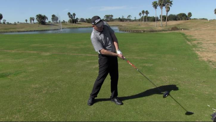 By pulling the handle up and back at impact, you can create that kick in the swing to increase club head speed