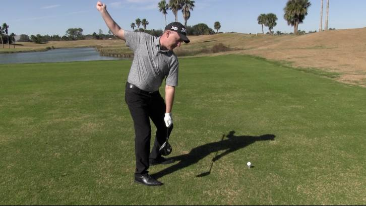 Releasing the trail leg in your backswing can help you turn and increase distance