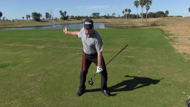 Getting a good squat in the downswing will help you use the ground to create power