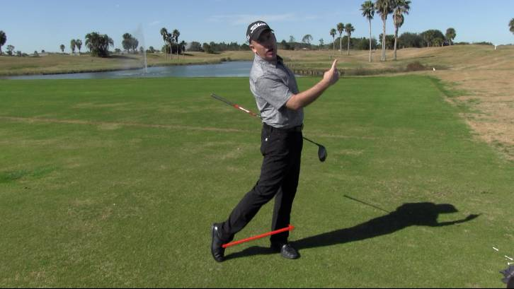 Pushing off the trail leg through impact will generate more power and increase distance