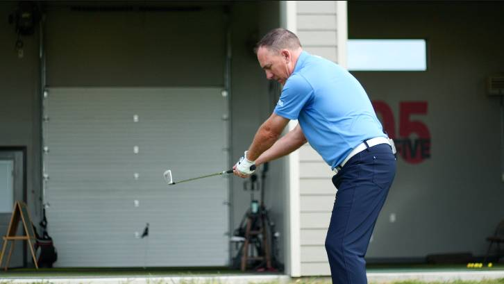 Poor body rotation in your golf backswing leads to the arms separating and doing too much work