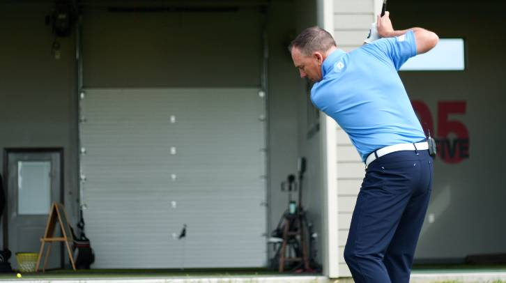 Elbow separation causes the arms to chicken wing in the golf backswing, which can lead to many problems