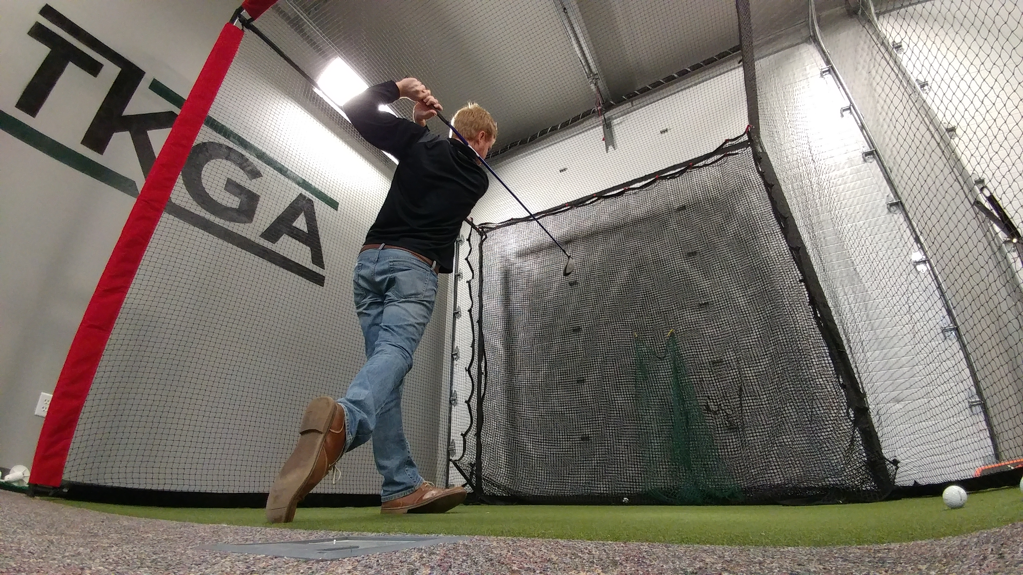 Golfing indoors with a net is not the only option to golf indoors