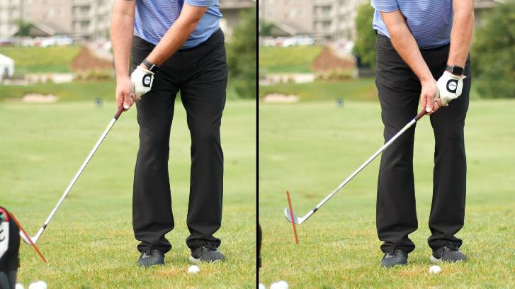 The difference between maintaining effective loft and hinging to start the backswing