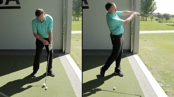 Setting your lead wrist angle through the shot can help with consistency in your wedge game